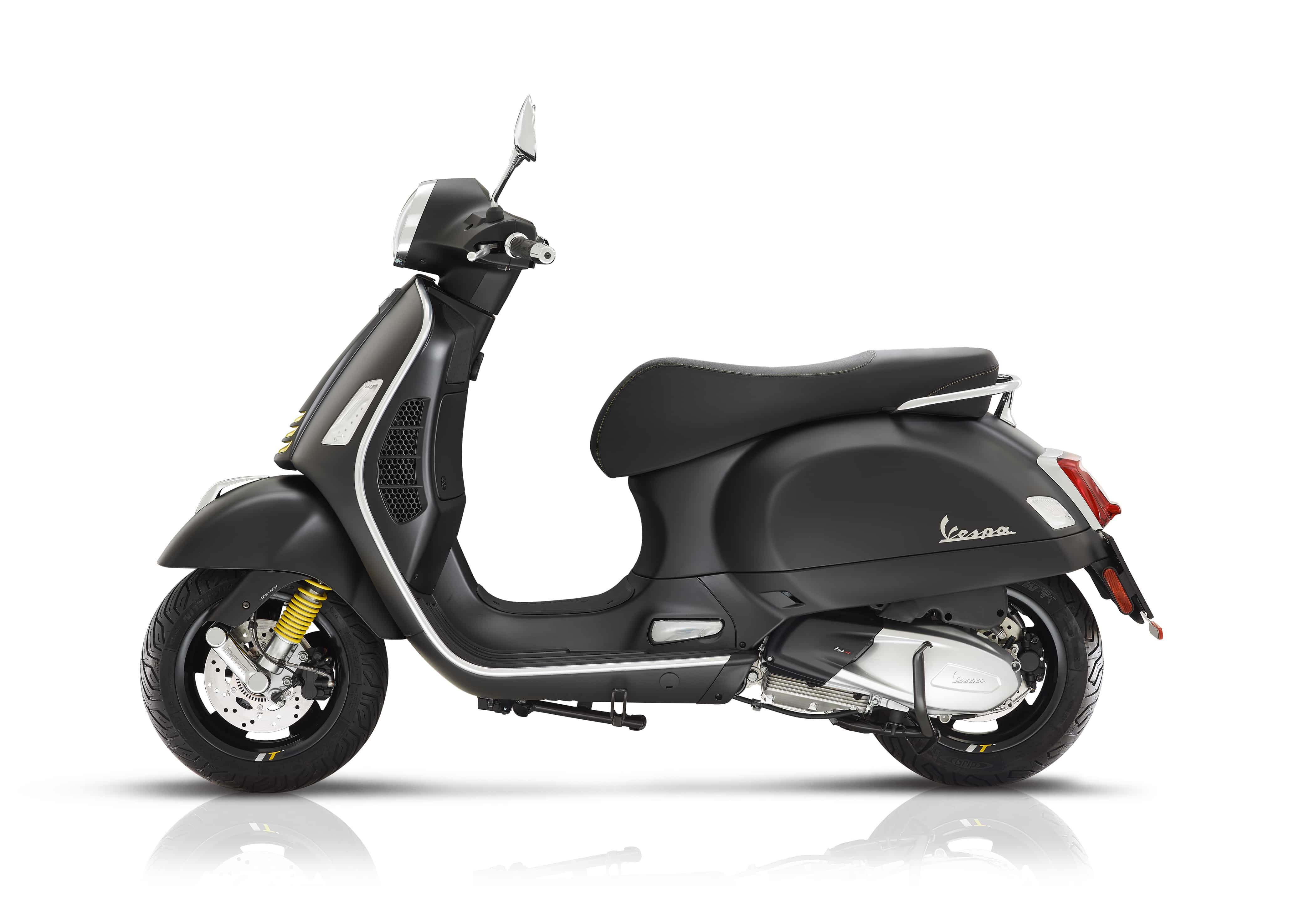 Vespa gts super tech mat zwart